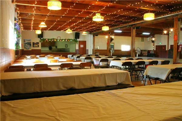 The Dining Room at the Rockin Horse Dance Barn and Wedding Venue Rental