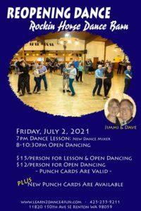 Reopening Dance & Special Salsa Workshop